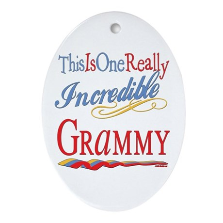 Incredible Grammy Oval Ornament