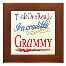 Incredible Grammy Framed Tile