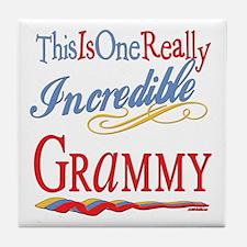 Incredible Grammy Tile Coaster