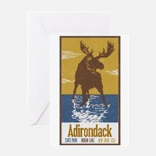 Cute Adirondack mountains Greeting Card