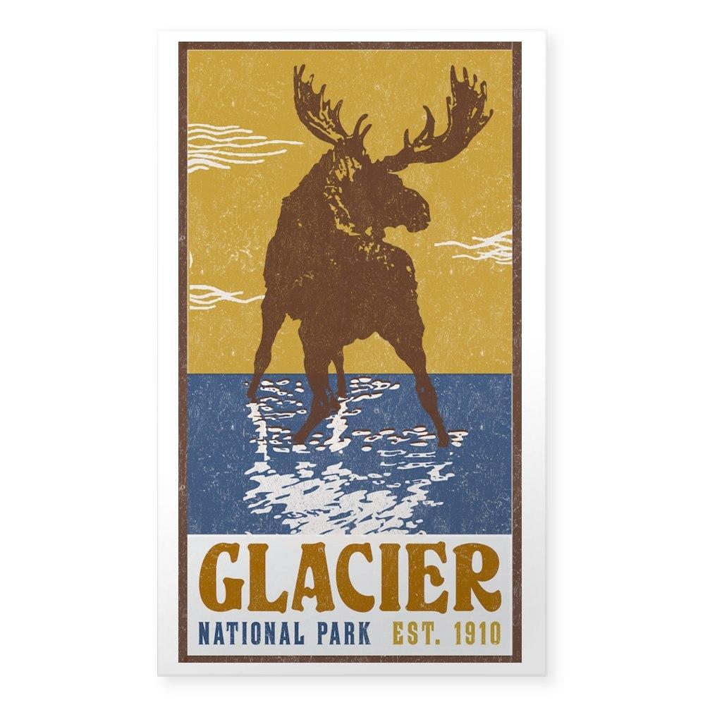 CafePress Glacier/_National/_Park/_Moose Rectangle Bumper Sticker Car Decal