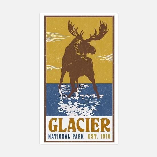 Unique Glacier national park Sticker (Rectangle)