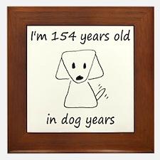 22 Dog Years 6-2 Framed Tile