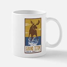 Grand Teton Moose Vintage National Park Shirt Mugs
