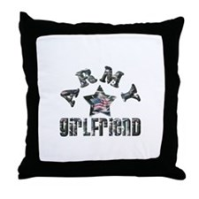 Army Girlfriend Throw Pillow
