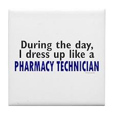 Dress Up Like A Pharmacy Technician Tile Coaster