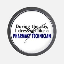 Dress Up Like A Pharmacy Technician Wall Clock
