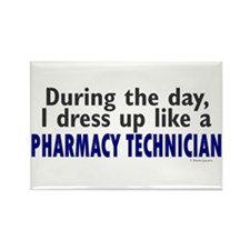 Dress Up Like A Pharmacy Technician Rectangle Magn
