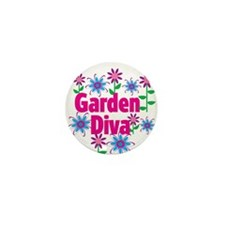 Garden Diva Mini Button