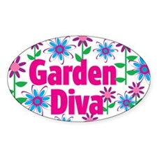 Garden Diva Oval Decal