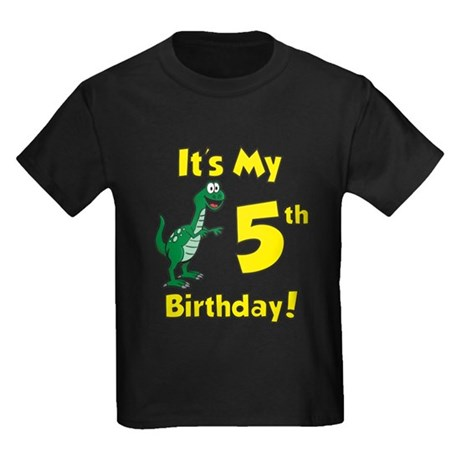 CafePress Dinosaur 5Th Birthday T Shirt Kids Cotton T-shirt 1815729341