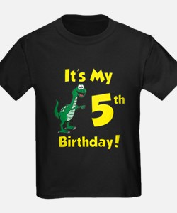 Dinosaur 5th Birthday T-Shirt