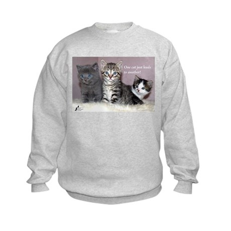 One Cat Leads to Another Kids Sweatshirt