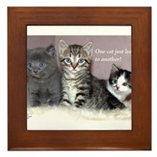 One Cat Leads to Another Framed Tile