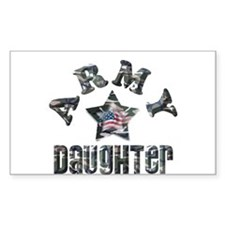 Army Daughter Camo Rectangle Decal