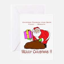 Santa's Surprise Greeting Card