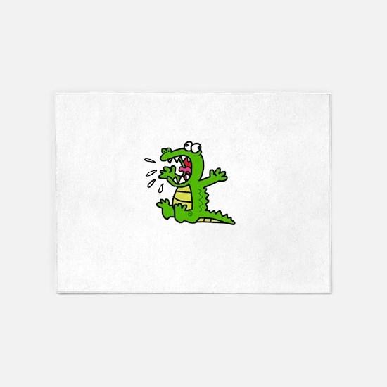 Screaming gator 5'x7'Area Rug