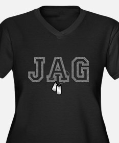 jag 7 Women's Plus Size V-Neck Dark T-Shirt