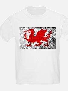 Welsh Dragon Grunge T-Shirt