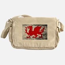 Welsh Dragon Grunge Messenger Bag