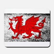 Welsh Dragon Grunge Mousepad