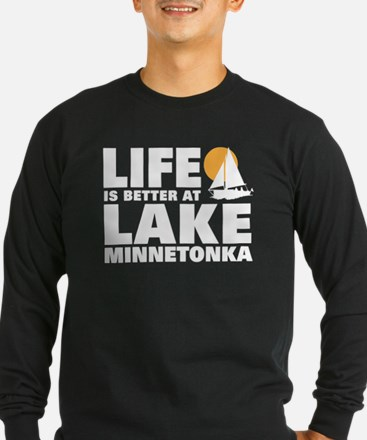 Life is Better At Lake Minneto Long Sleeve T-Shirt