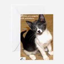 Kittens are angels with whisk Greeting Card