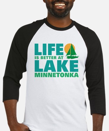 Life is Better At Lake Minnetonka Baseball Jersey