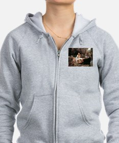 The Lady Of Shallot - 1- 18x13. Zip Hoodie