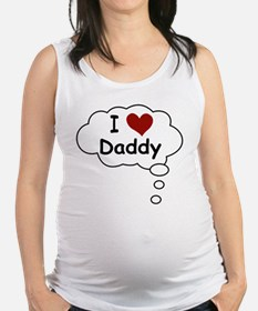 BellyTalk I Heart Daddy Maternity Tank Top