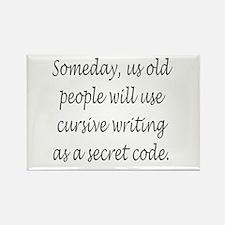 Cursive Secret Code Magnets