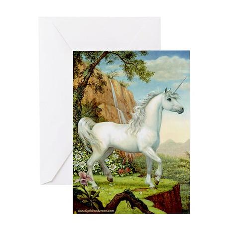 Unicorn Tropical Paradise Greeting Card
