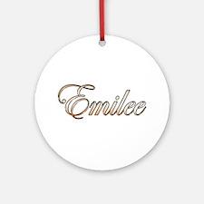 Cute Emilee Round Ornament