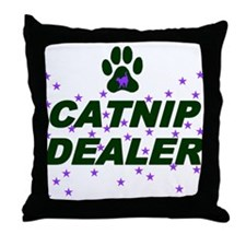 CATNIP DEALER Throw Pillow