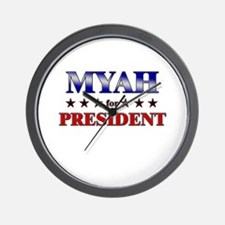 MYAH for president Wall Clock