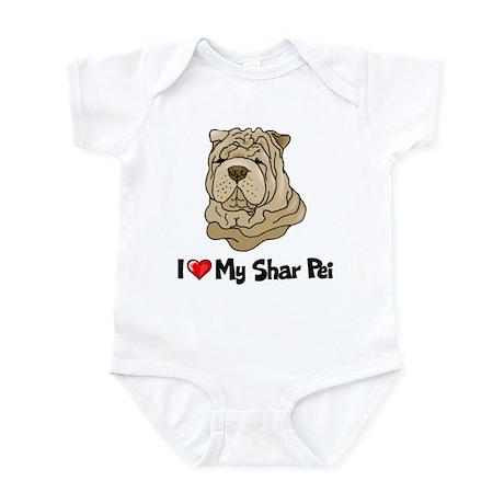 Love Shar Pei Infant Bodysuit
