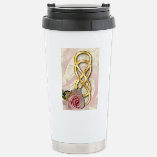 Double Infinity Gold Wi Stainless Steel Travel Mug