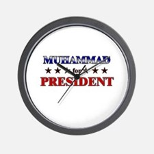 MUHAMMAD for president Wall Clock