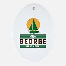 Funny Lake george Oval Ornament