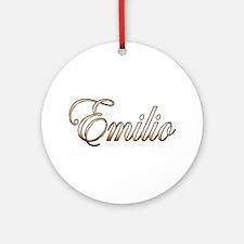 Cute Emilio Round Ornament