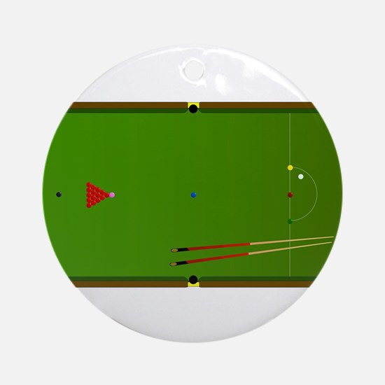 Snooker Table Round Ornament