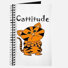 Funny Cattitude Cat Journal
