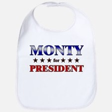 MONTY for president Bib