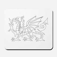 Welsh Dragon Outline Mousepad