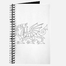 Welsh Dragon Outline Journal