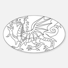 Welsh Dragon Outline Decal