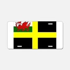 Flag of Saint David Aluminum License Plate