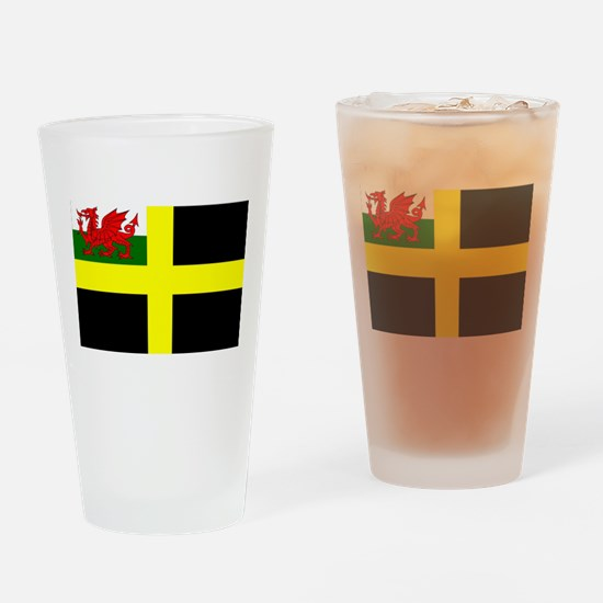 Flag of Saint David Drinking Glass