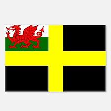 Flag of Saint David Postcards (Package of 8)