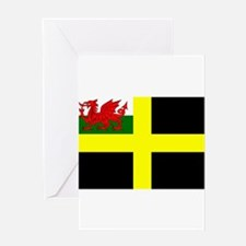 Flag of Saint David Greeting Cards